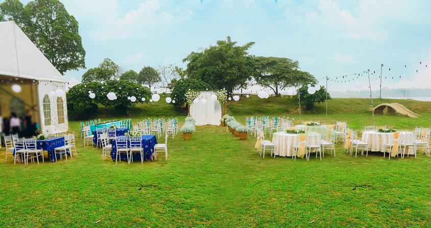 Lưu ý vấn đề thời tiết khi tổ chức tiệc cưới ngoài trời