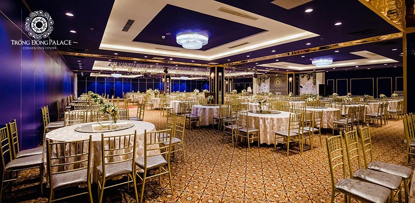 Sảnh lớn của Trung tâm tiệc cưới Trống Đồng Palace Hà Đông