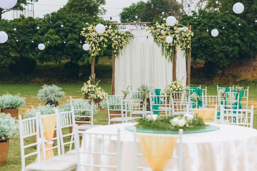 Địa điểm tổ chức tiệc cưới ngoài trời Trống Đồng Sông Hồng