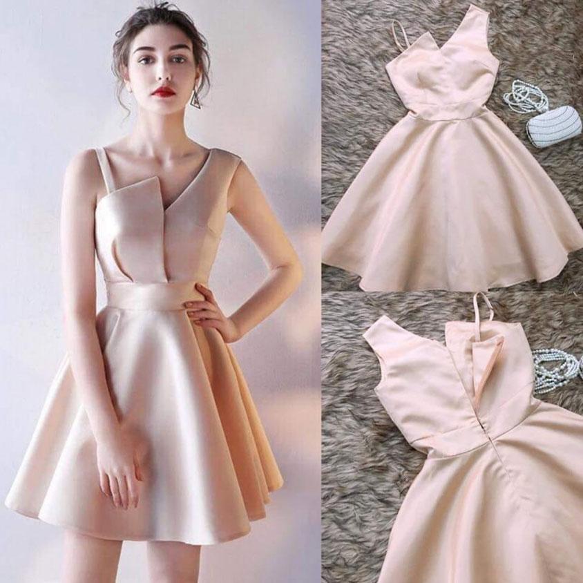 mẫu váy hồng cho tiệc cưới